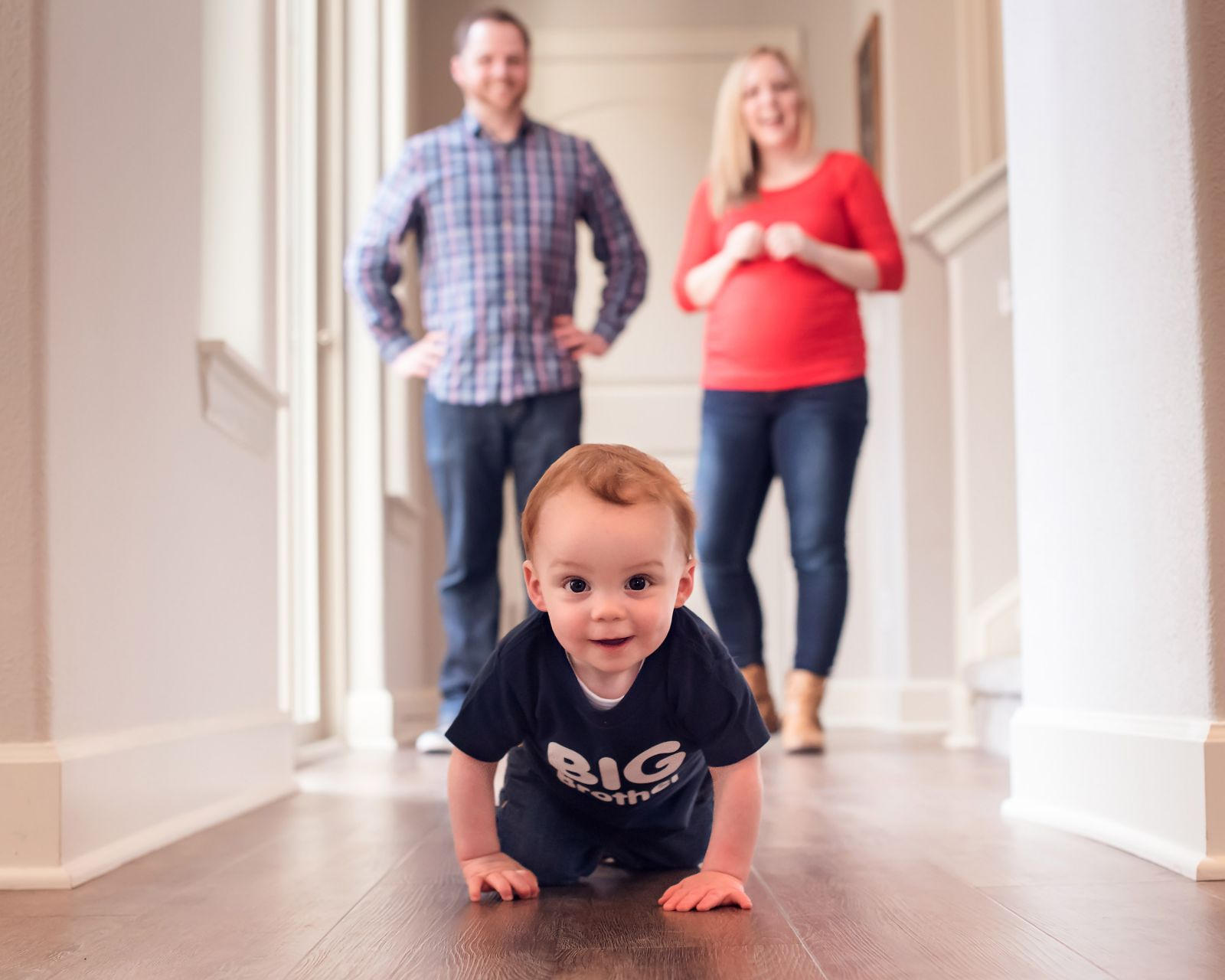 portland family photography crawling baby