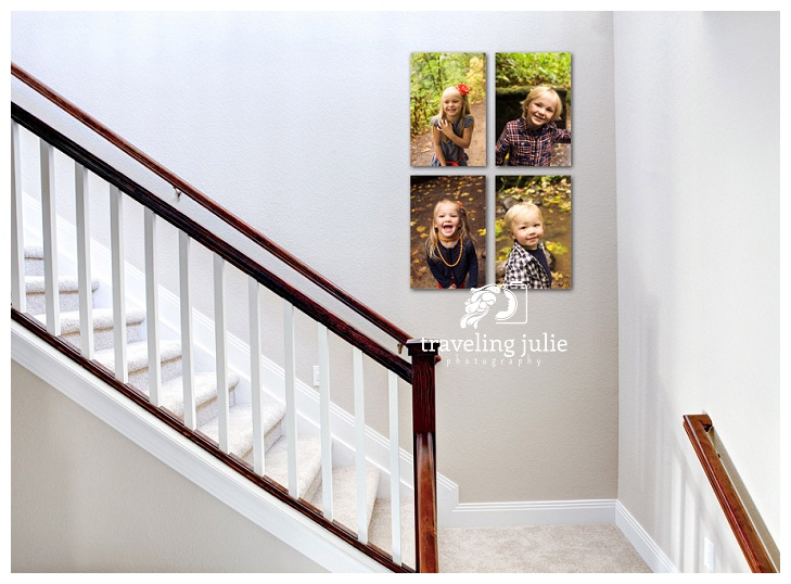 happy child portraits in stairwell
